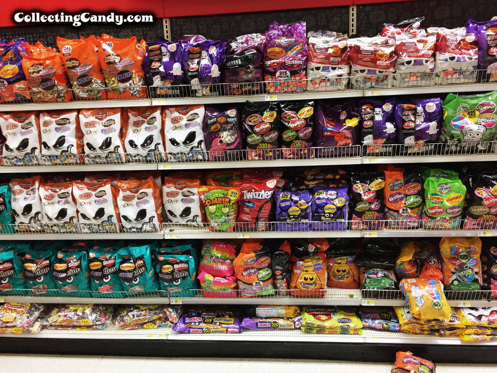 2016 Target Halloween candy bulk packaging isle.