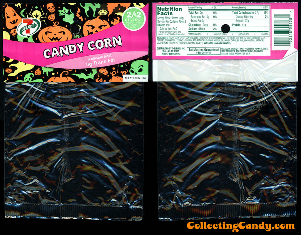 7-Eleven - 7-Select - Halloween Candy Corn - 3.75oz private label candy package - October 2015