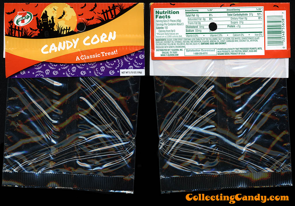 7-Eleven - 7-Select - Halloween Candy Corn - 3.75oz private label candy package - October 2016