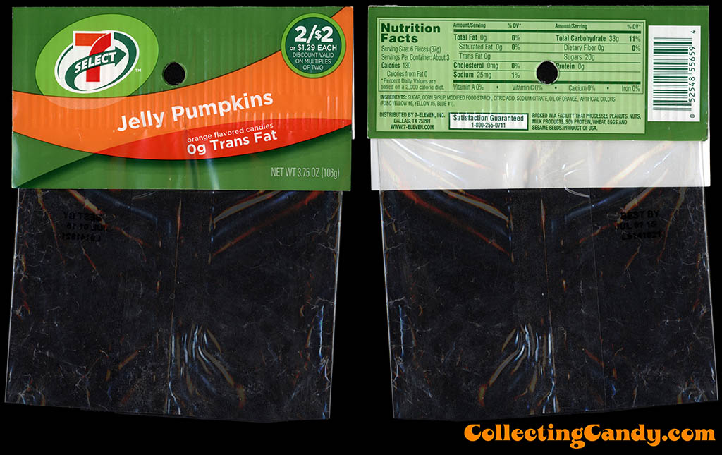7-Eleven - 7-Select - Halloween Jelly Pumpkins - 3_75oz private label candy package - October 2014