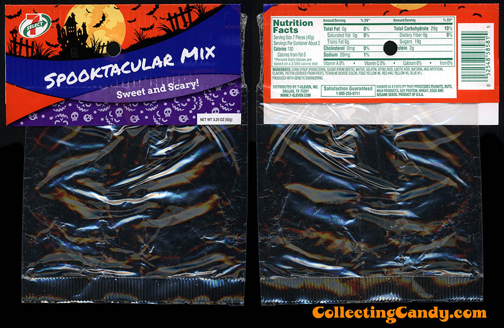 7-Eleven - 7-Select - Halloween Spooktacular Mix - 3.25 oz private label candy package - October 2016