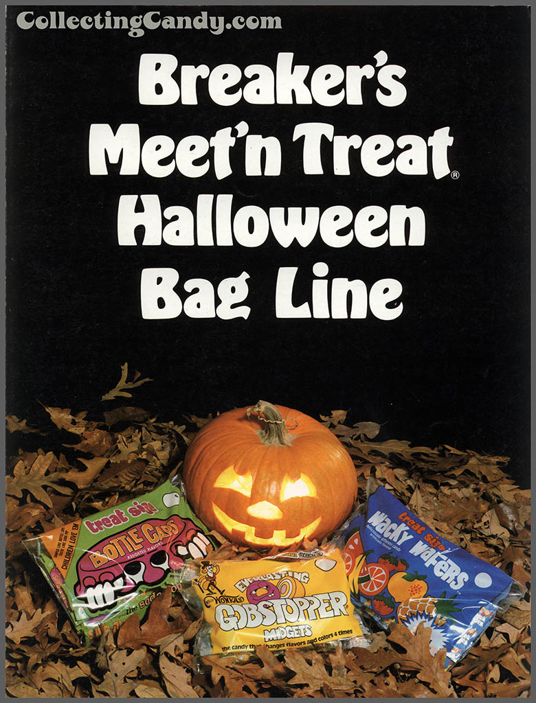 Breaker Confections 1978 Meet 'n Treat Halloween Bag Line brochure - page 01