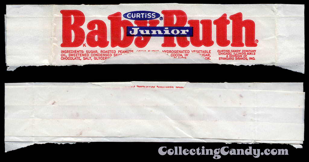 Curtiss - Baby Ruth Junior - candy wrapper - early 1970's