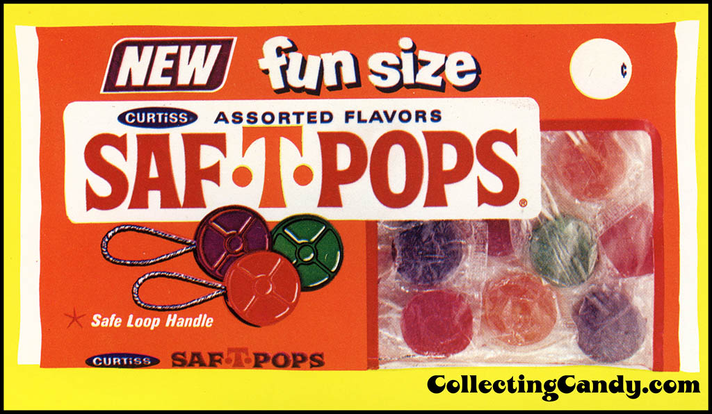 Curtiss Saf-T-Pops - Fun Size - Halloween package photo - 1973