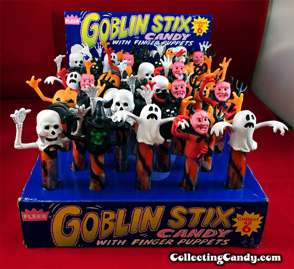 Fleer - 1980's Goblin Stix Candy display box photo 04