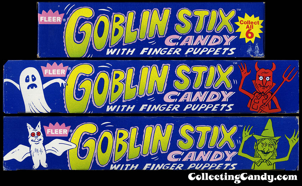 Fleer Goblin Stix - display box side art - 1980's