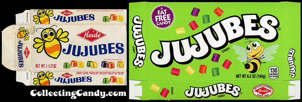 Heide Jujubes from the 1970's and today.