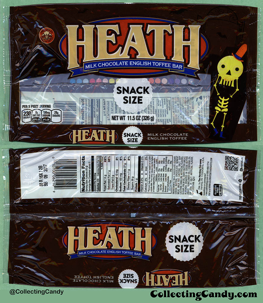 Hershey - Heath - Snack Size - 11.5 oz Halloween multi-pack packaging - October 2016