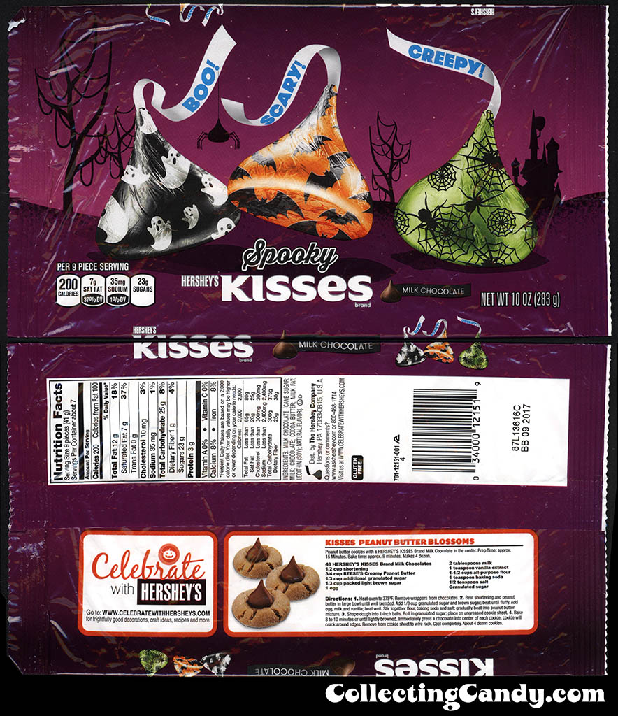 Hershey's Spooky Kisses - 10oz Halloween candy package - October 2016