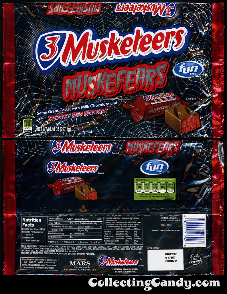 Mars - 3-Musketeers Spooky Red Nougat - Muskefears - 10_48 oz Halloween Fun Size multi-bag packager - October 2016