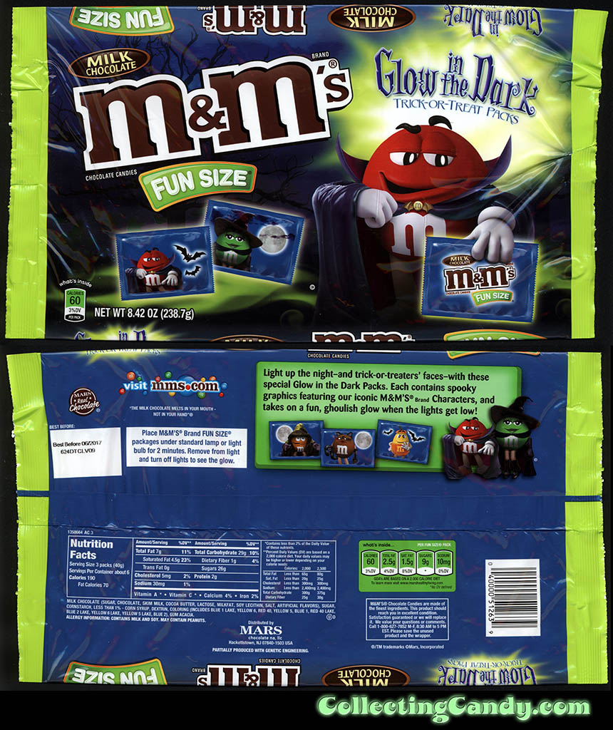 Mars - M&M's Glow-in-the-Dark Trick-or-Treat Packs - Walgreens Exclusive - 8.42 Fun Size multi-package - October 2016