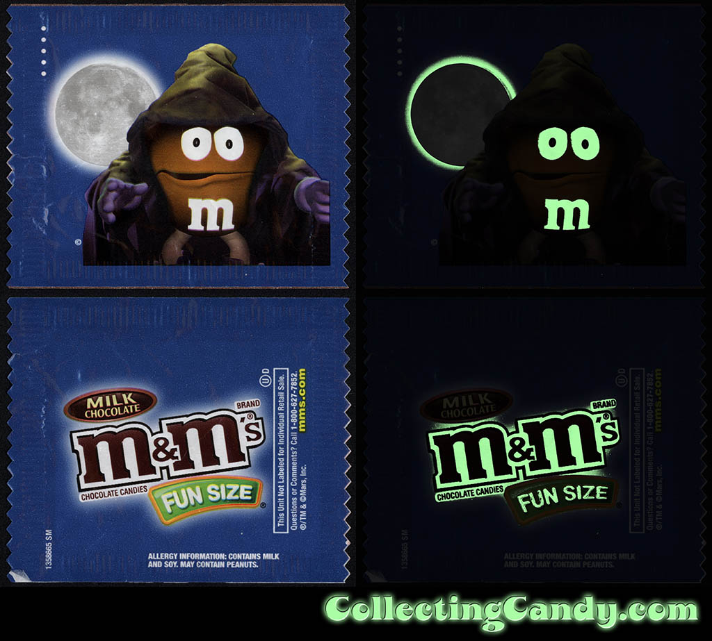 Mars - M&M's Glow-in-the-Dark Walgreens Exclusive Trick-or-Treat Fun-Size pack - Orange Wizard - October 2016 - GLOW
