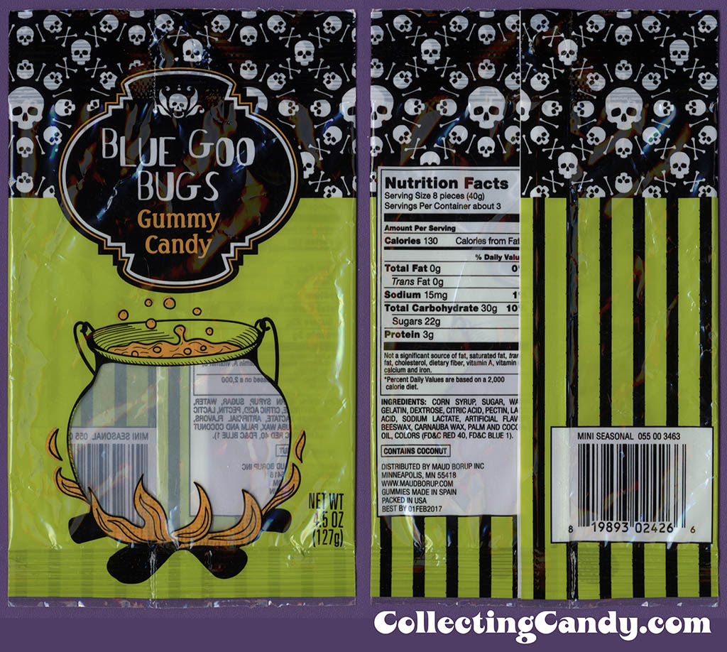 Target - Bue Goo Bugs - 4.5oz Halloween candy package - October 2016