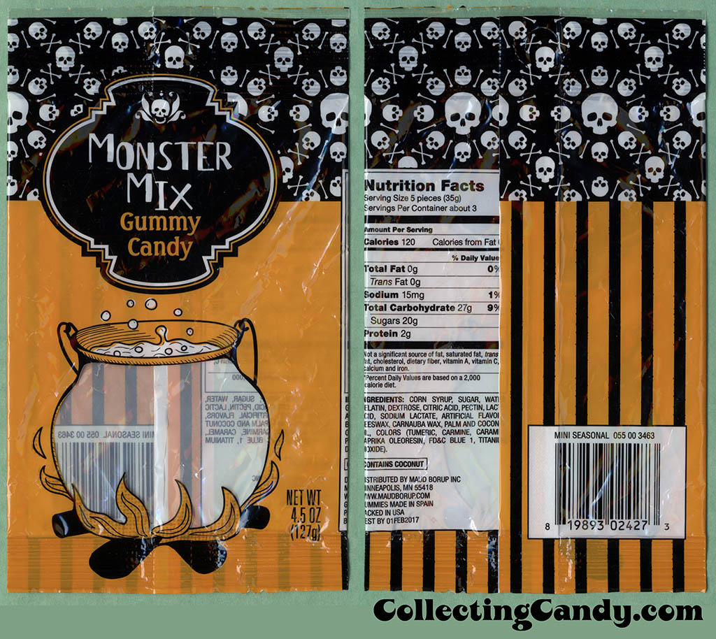 Target - Monster Mix Gummy Candy - 4.5oz Halloween candy package - October 2016