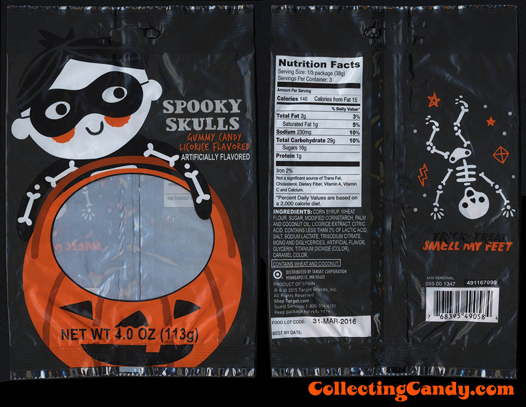 Target - Spooky Skulls Gummy Candy - 4 oz Halloween candy package - October 2015