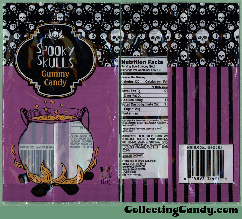 Target - Spooky Skulls Gummy Candy - 4.5oz Halloween candy package - October 2016
