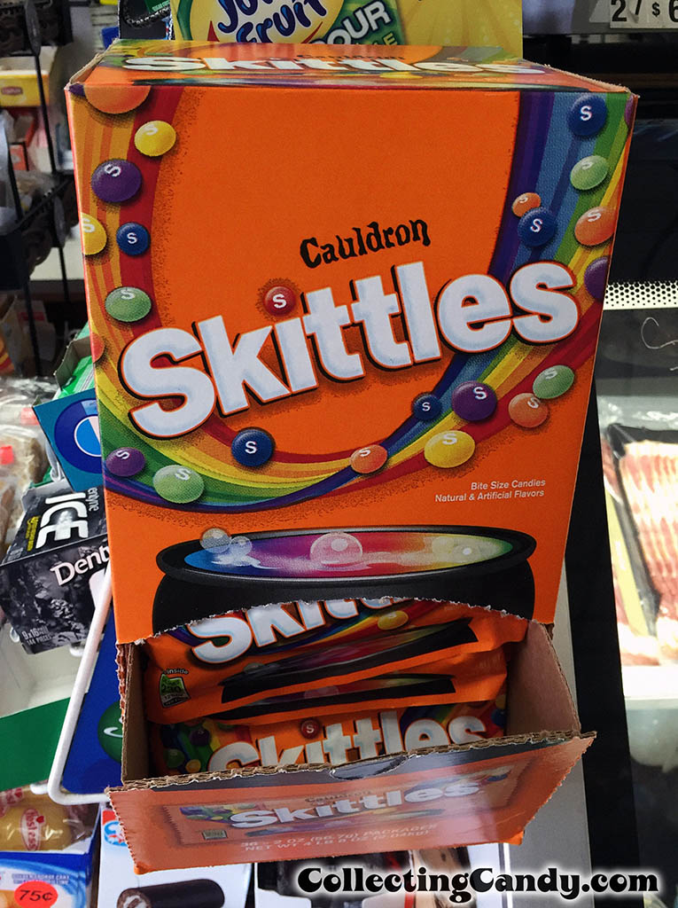 Wrigley - Cauldron Skittles - Halloween candy counter display box - September 2016