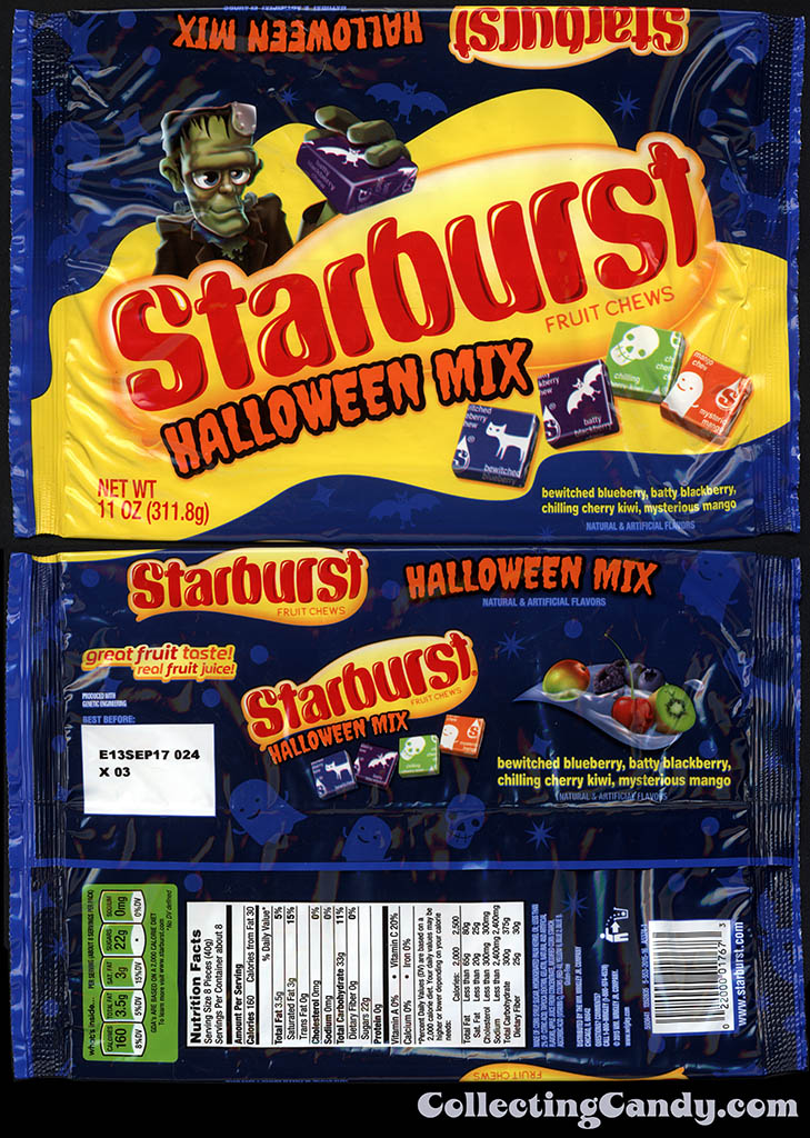 Wrigley - Starburst - Halloween Mix - 11 oz Halloween candy multi-package wrapper - October 2016