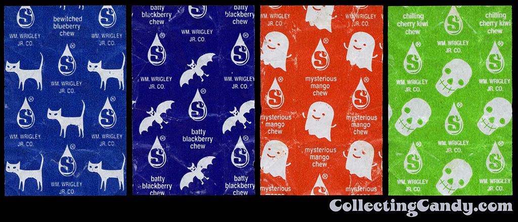 Wrigley - Starburst - Halloween Mix - individual candy wrappers - October 2015