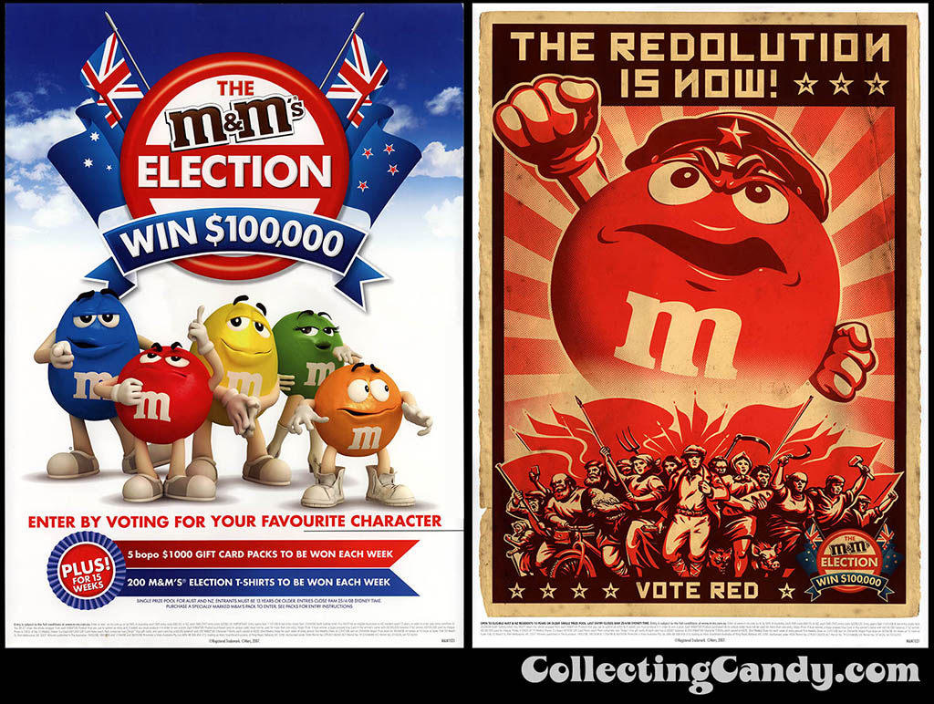 Australia-New Zealand - Mars - M&M's Election posters 2008