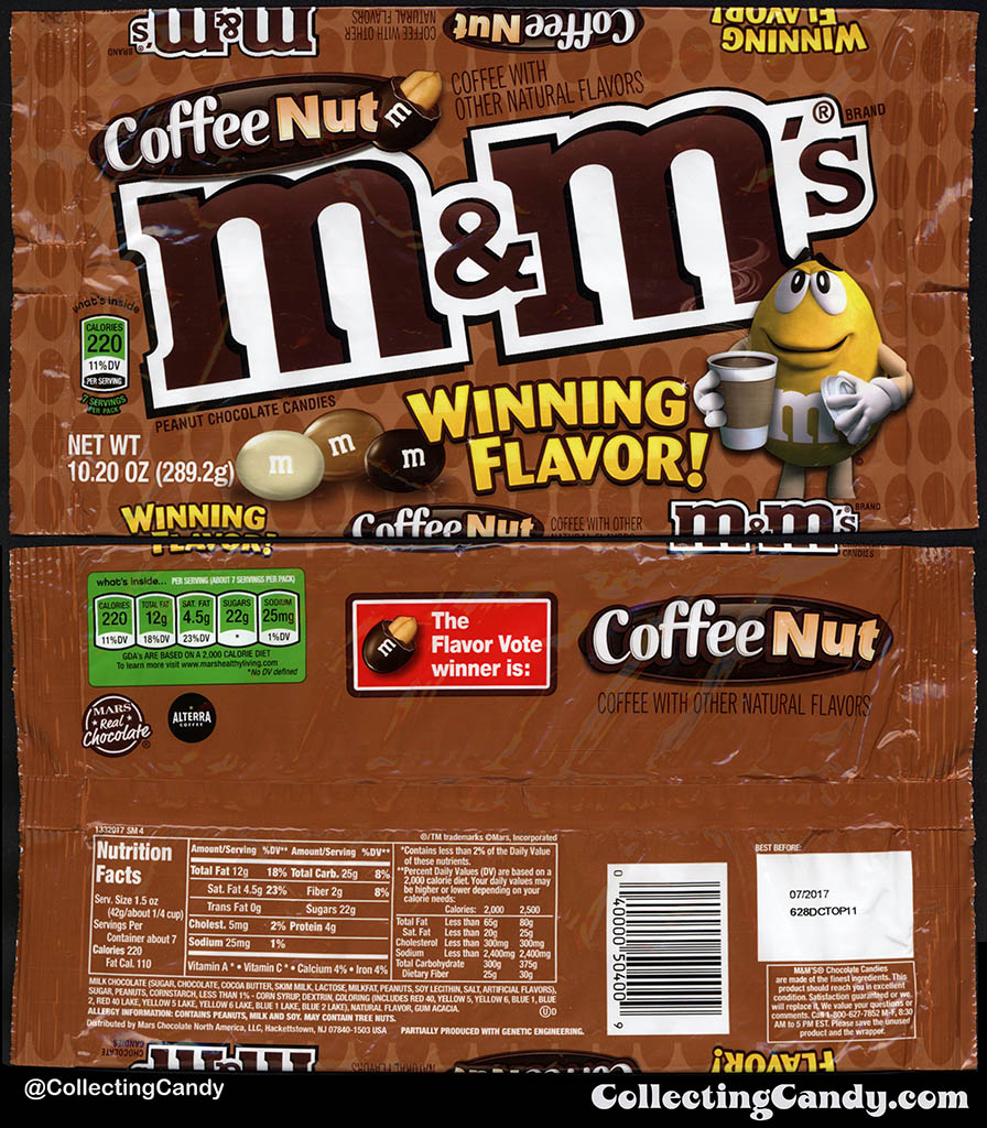 Mars - M&M's - Coffee Nut - Winning Flavor - 10.20 oz candy package - Fall 2016