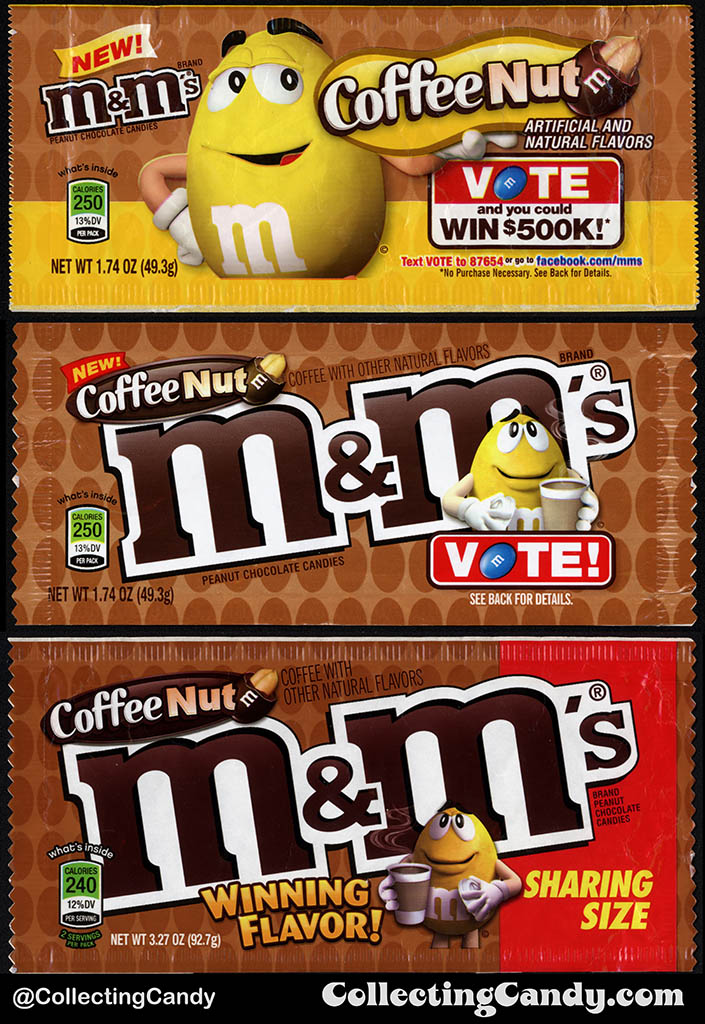 Mars - M&M's - Coffee Nut pack comparison