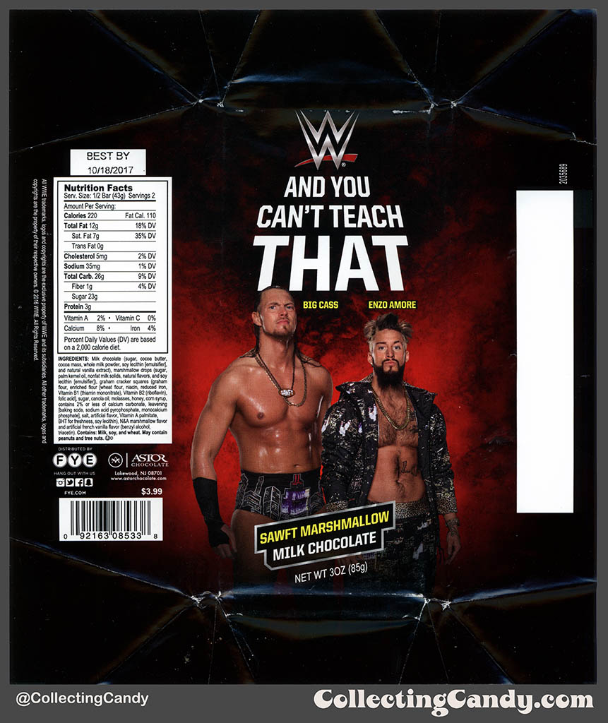 CC_FYE – Astor Chocolate – WWE – And You Can't Teach That – Sawft ...