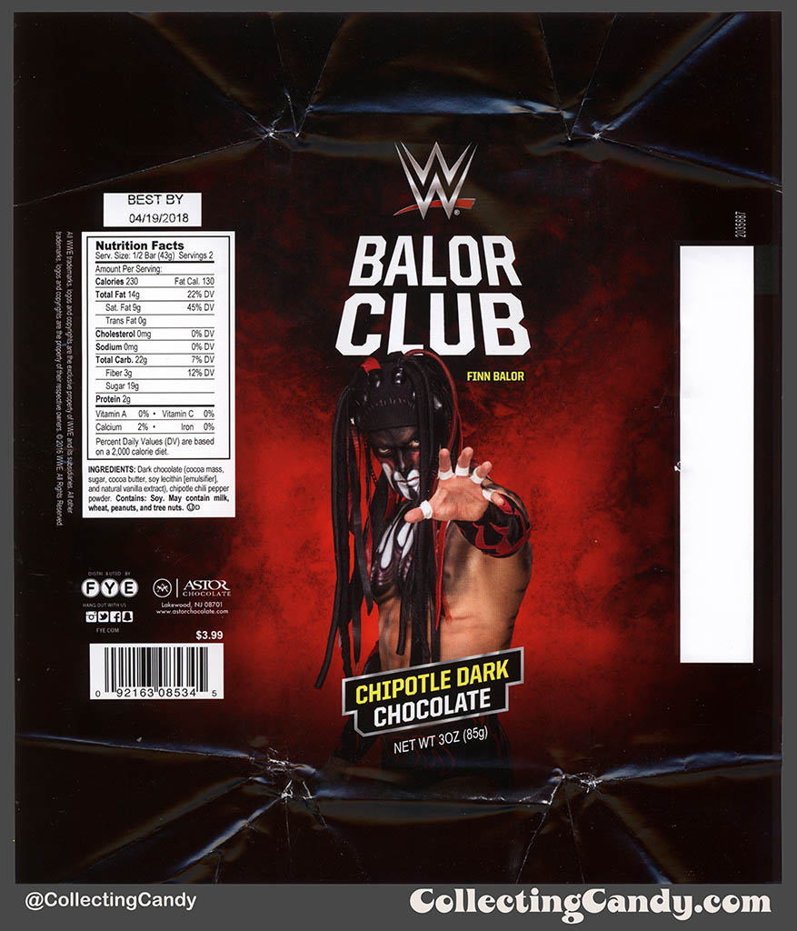 CC_FYE – Astor Chocolate – WWE – Balor Club – Chipotle Dark ...
