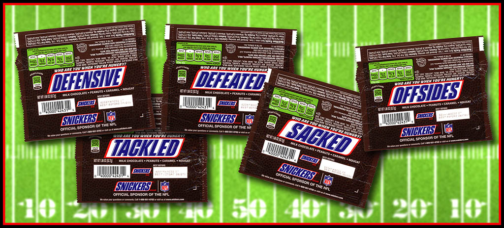 Super Bowl Sunday 2017 and Snickers' Football Phrase Wrappers ...