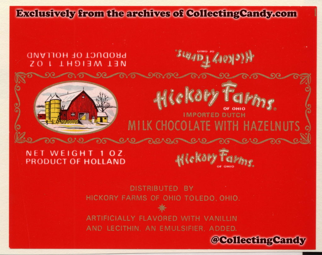 Hickory Farms Chocolate Bar Wrappers Of The Early 1970s